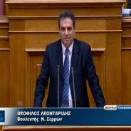 Ομιλία του κ. Θεόφιλου Λεονταρίδη στην Βουλή για επενδυτικά σχέδια στον πρωτογενή τομέα, στη γεωθερμία και κατάθεση των προτάσεων του Επιμελητηρίου Σερρών για το νέο αναπτυξιακό νόμο – 03/04/2013