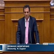Ομιλία του κ. Θεόφιλου Λεονταρίδη στη Βουλή για το σχέδιο νόμου «Πρόγραμμα διευκόλυνσης για ενήμερους δανειολήπτες και τροποποιήσεις στο Ν. 3869/2010 για τα υπερχρεωμένα νοικοκυριά» – 10/06/2013