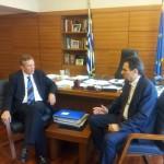 Συνάντηση του Αν. κ. Θεόφιλου Λεονταρίδη με τον Υποψήφιο Περιφερειάρχη Κεντρικής Μακεδονίας κ. Γιάννη Ιωαννίδη, στο Υπουργείο Αγροτικής Ανάπτυξης και Τροφίμων, για την ακαρπία της ελιάς