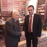 Με τον Πρόεδρο της Δημοκρατίας Κάρολο Παπούλια - 1